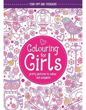 Carte de colorat copii Colouring For Girls: Pretty Picture
