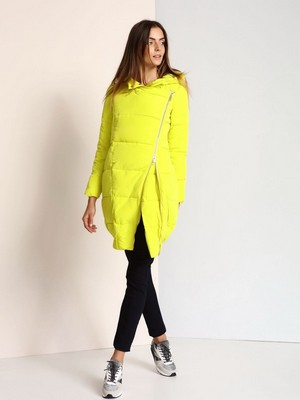 Geaca dama lunga de fas Top Secret TKU0286 Yellow
