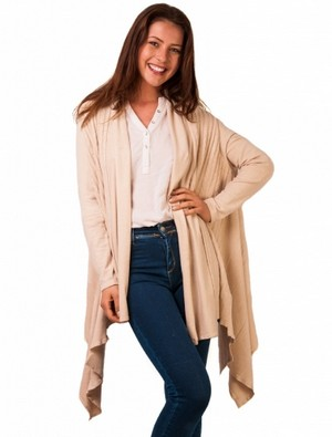 Cardigan dama lung in colturi Midnight Walk Cream