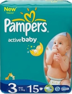 Pampers 3 Active Baby 4-9kg x 15