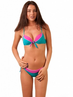 Costum De Baie Sunday And Me Turquoise Pink