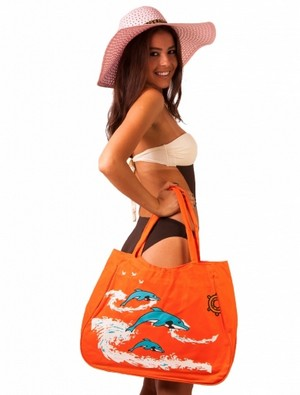 Geanta De Plaja Seaside In Love Orange