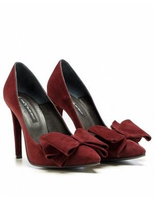 Pantofi femei, marsala, Stiletto Bow, The 5th Element