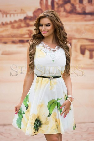 Rochie LaDonna Flowers Delight Yellow