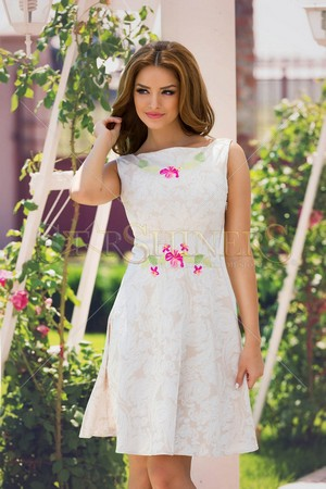 Rochie StarShinerS Brodata Priceless Cream