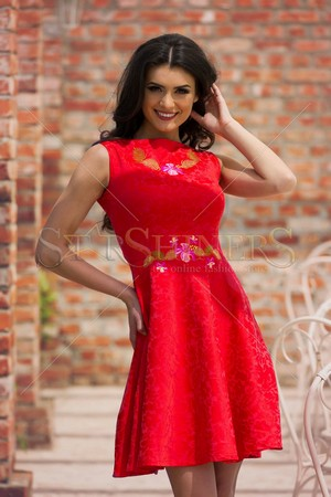 Rochie StarShinerS Brodata Priceless Red