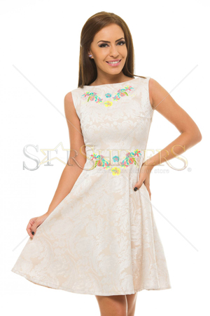 Rochie StarShinerS Brodata Reflection Cream