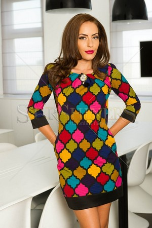 Rochie Fofy Colorful Feeling Black