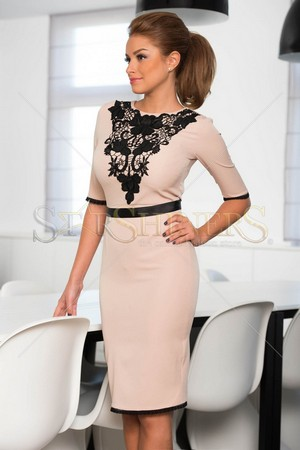 Rochie LaDonna Defined Style Cream