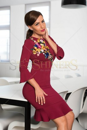 Rochie LaDonna Native Beauty Burgundy